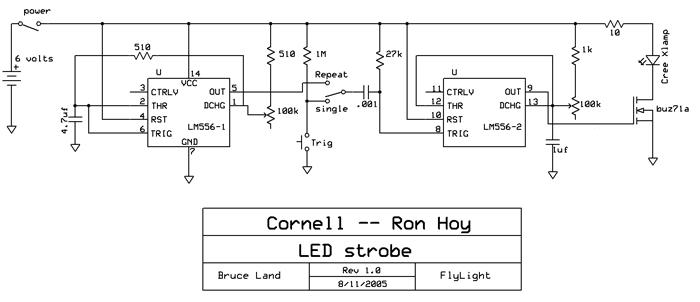 Tremendous Led 555 Timers Bright Strobe Details Hackaday Io Wiring Database Gramgelartorg
