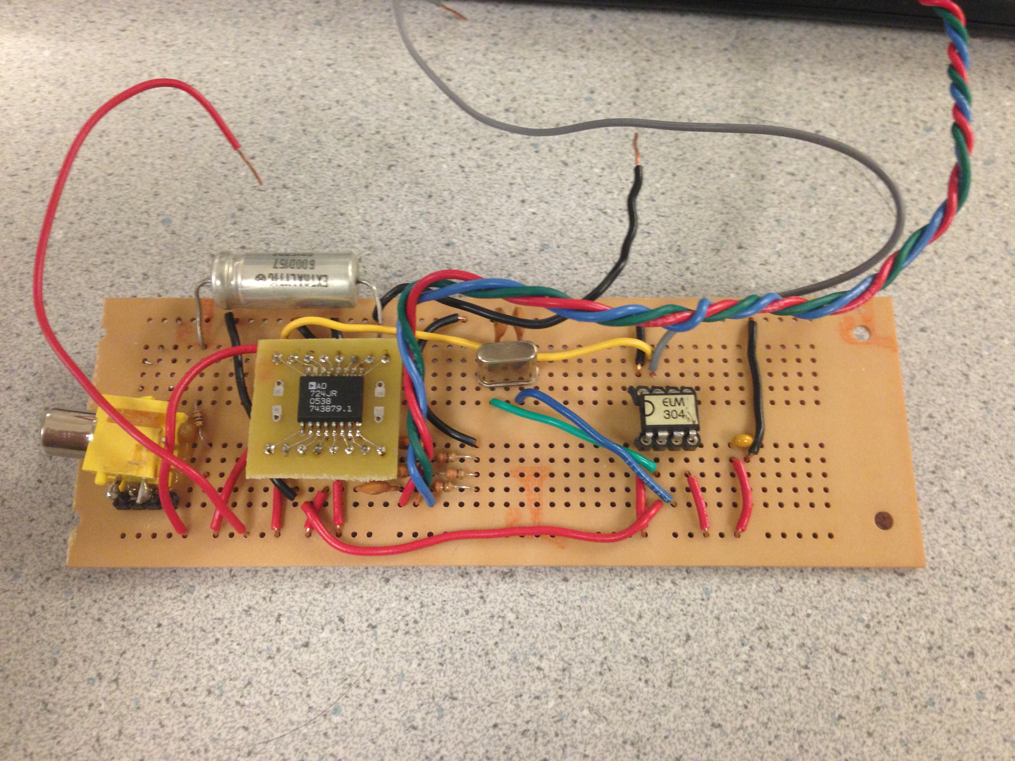 Ece 4760 Audio Spectrum Analyzer Circuit Electronic Design Color Video Generation