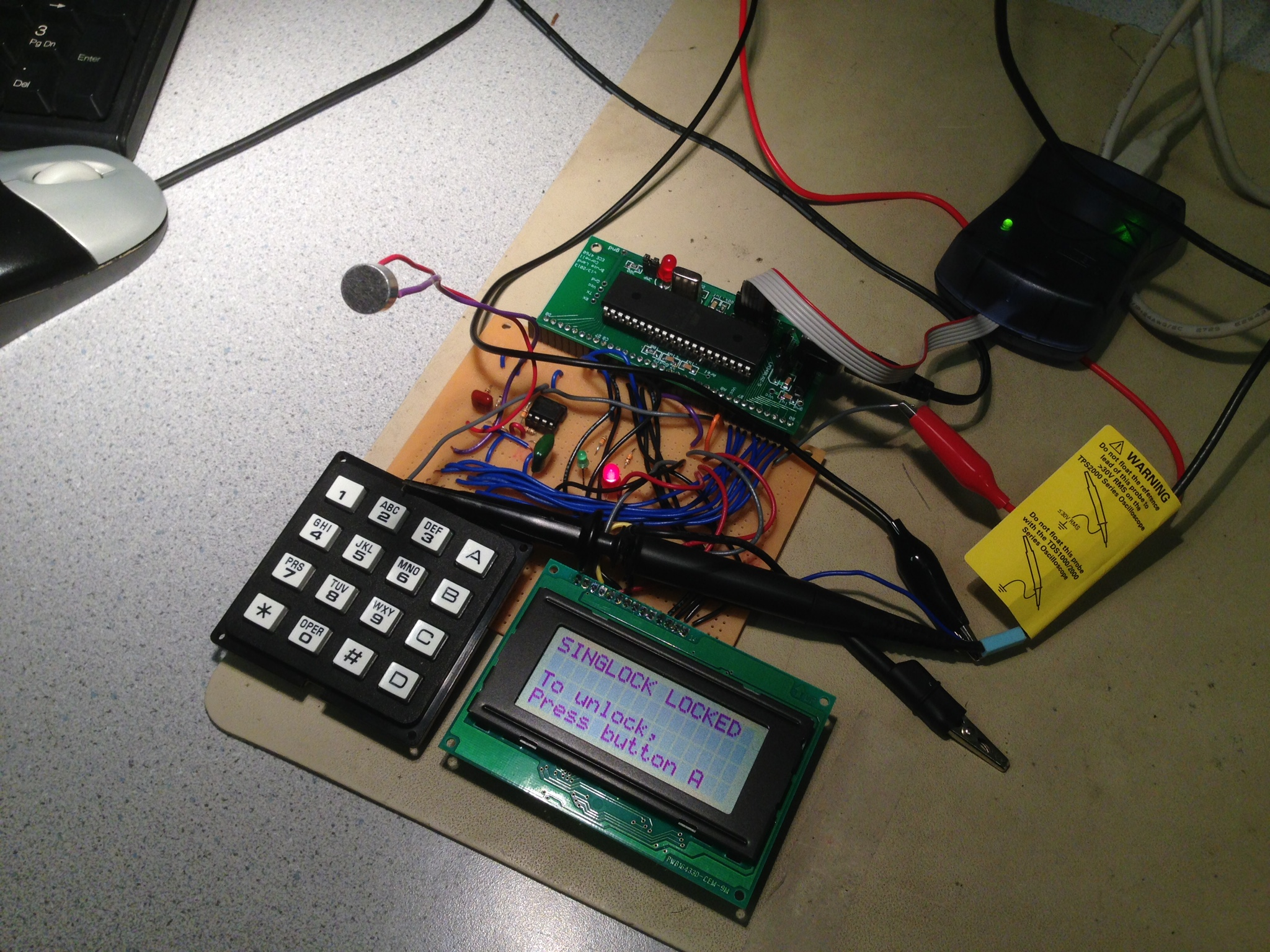 Ece 4760 Final Project Singlock Key Digital Circuit Scheme Using A Password System