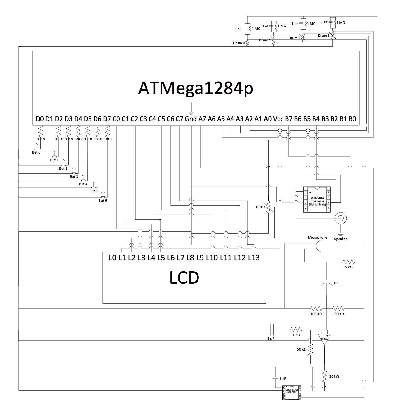Electronic Drum Set Schematic Diagram Schematics Wiring Diagrams Simple Block Circuit And