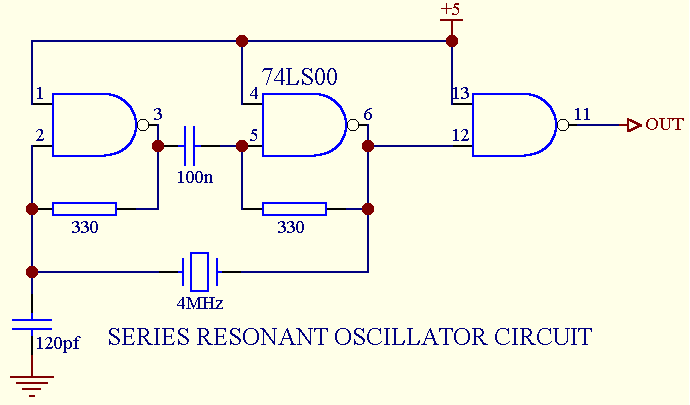 Thomas Scherrer Crystal Oscillator Circuits.  Figure 4:Crystal Oscillator Circuit (Image from.
