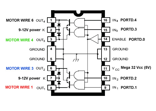 Stepper Motor Controller Driver Circuit With Circuit