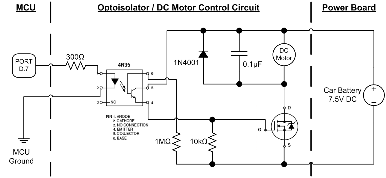 Optoisolator_DC_Motor_Control_Circuit ece 4760 the autonomous driving car  at webbmarketing.co