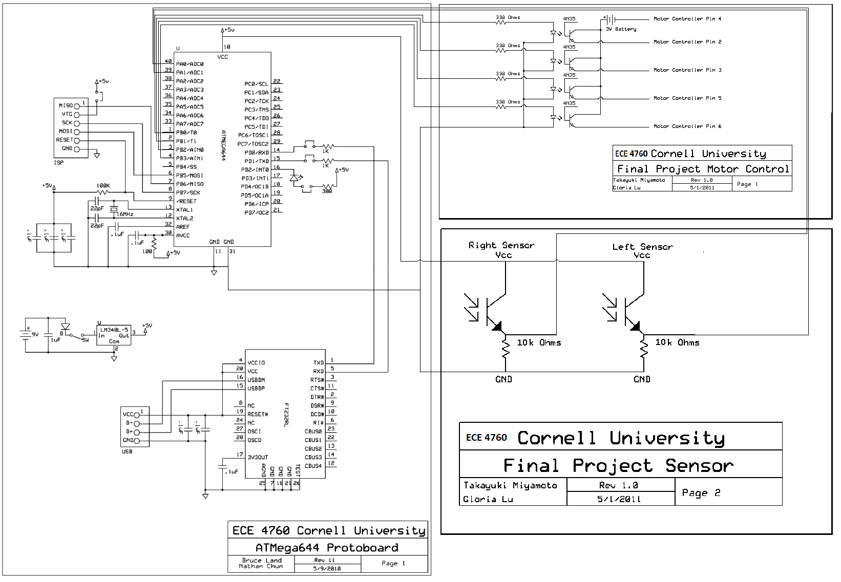 ECE 4760 The Autonomous Driving Car | ece circuit diagrams