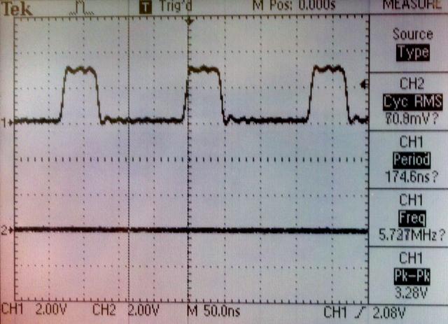 5.71 MHz waveform