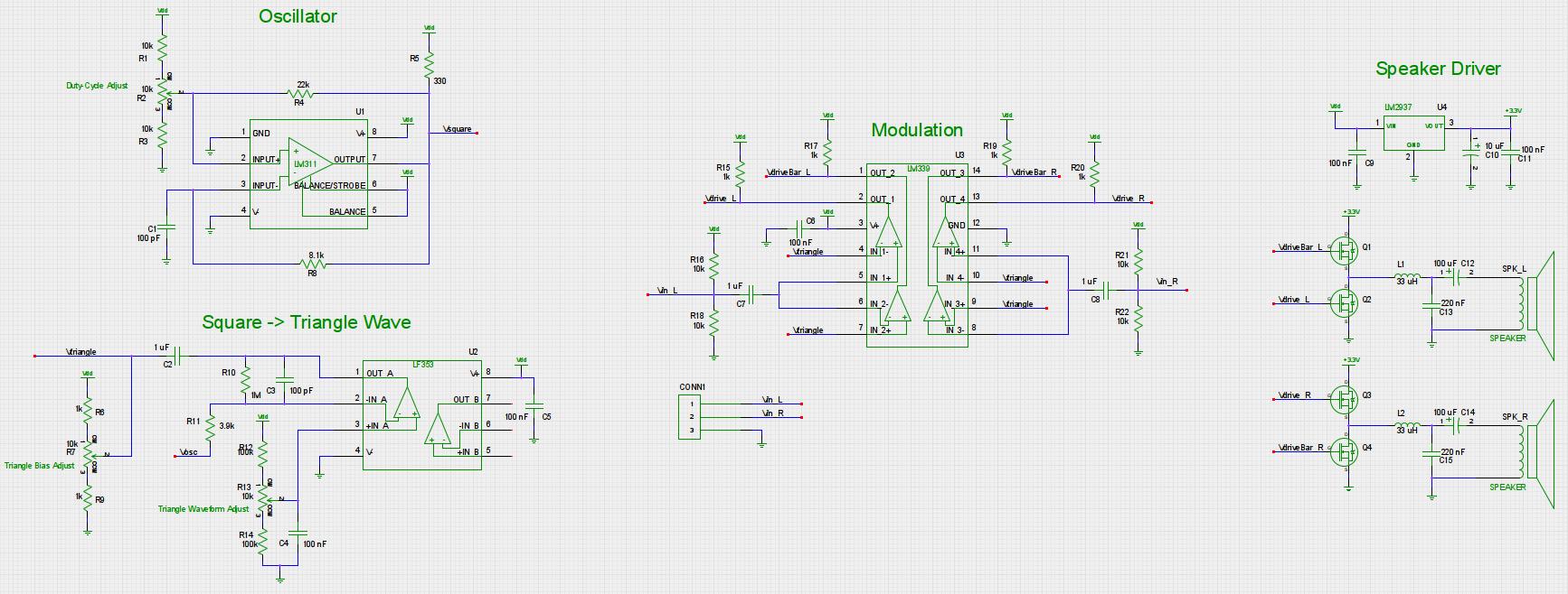 Ece 5030 Final Project Headphone Lifier Circuit Schematic Speaker Amplifier