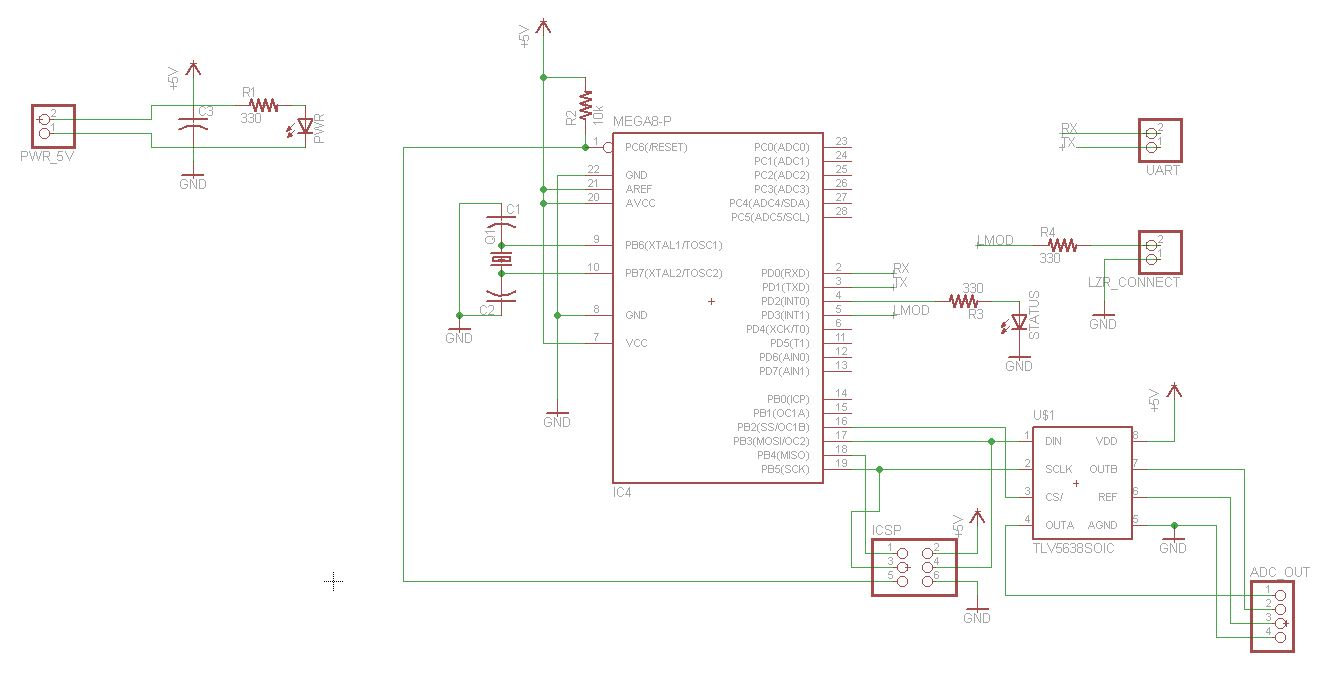 Ece 4760 Final Project Lm741 Pin Diagram Furthermore Op Pinout Connection Microcontroller Board Schematic