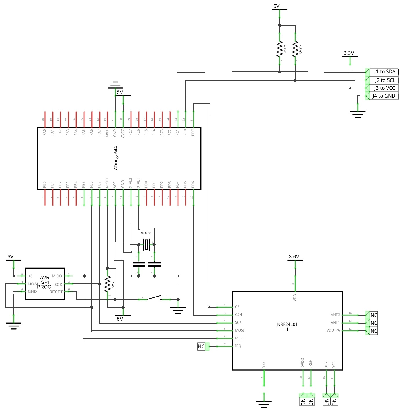 ece 4760 segway robot figure 10 schematic of the segway robot controller board