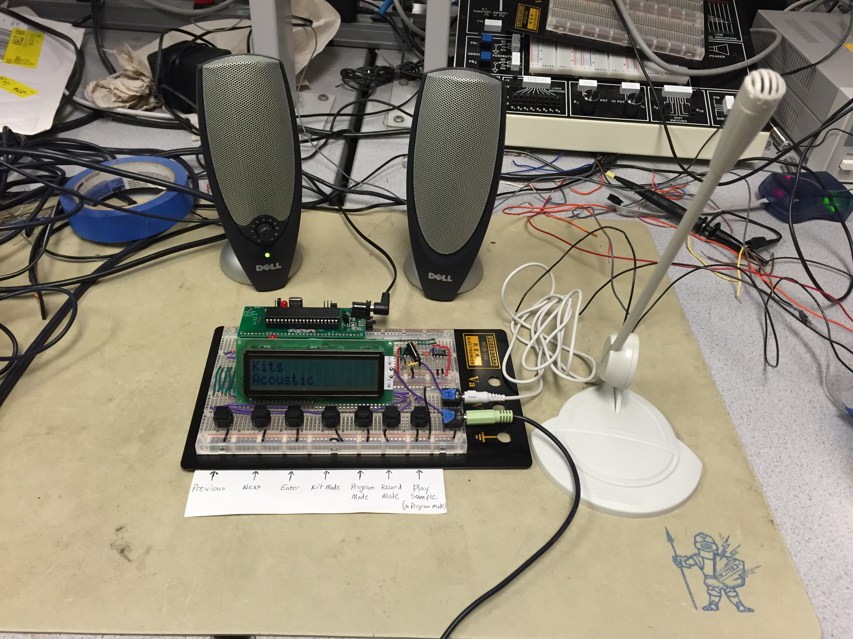 Digitally Recordable User Modifiable Sound Emitting Tool Drum Set Project 61 Breadboarded High Pass Filter There Is An Amplification Circuit And A Low As Seen In The Figure Below We Used Was Max281 5 Pole