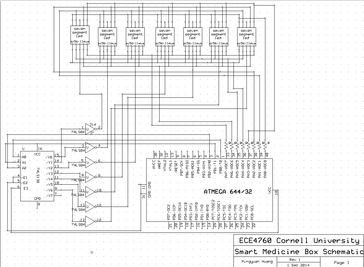 Ece 4760 7 Segment Clock Circuit Diagram Seven Led Display Control Circuitry