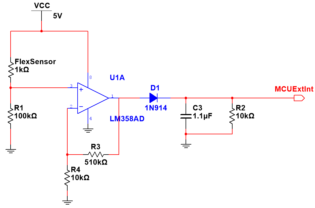 Ece 4760 Drums Anywhere Opticalinterruptionsensor Sensorcircuit Circuit Diagram Flex Sensor