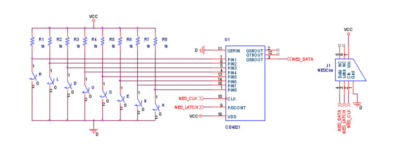 Ece 4760 Final Project Led Cube With Snakego Figure 2 Schematic Of The Driver Reference Design 9 Nes Controller Schematics