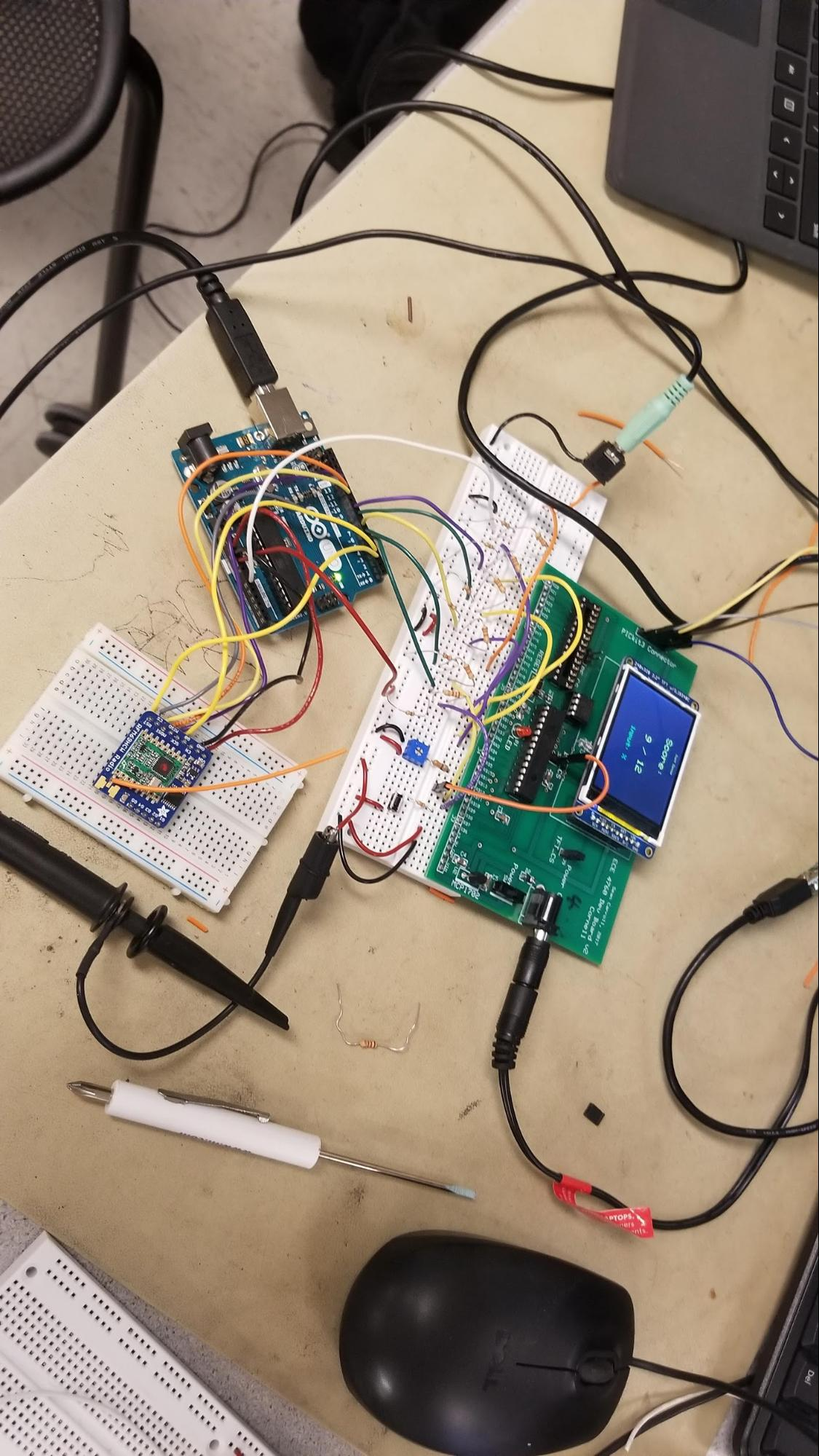 Groovy Times Untethered Rhythm Game Debounce Circuit Of Course Mitigates This Characteristic The Figure 10 Base Station Design Displaying Final Stage Screen