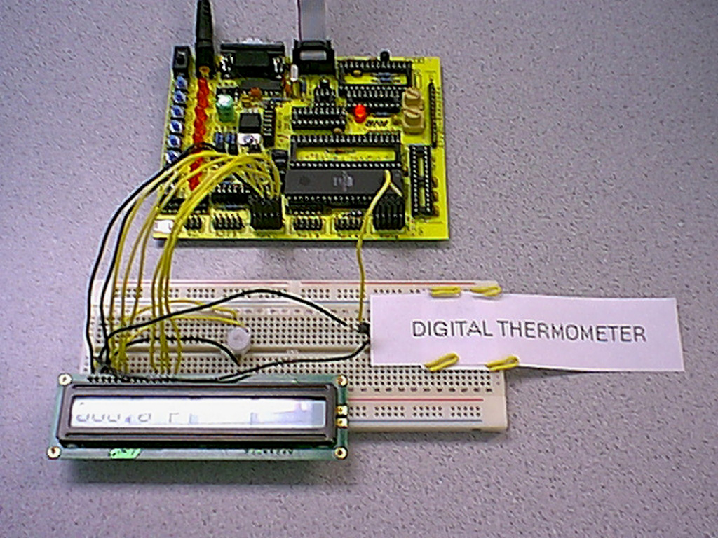 Ee 476 Spring 2000 Digital Thermometer Alan Nawoj And Donald Chai Electronic Circuit Schematic Appendix Schematics