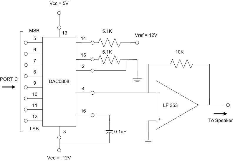 diagram of dac rh people ece cornell edu dac converter circuit diagram dac0808 circuit diagram