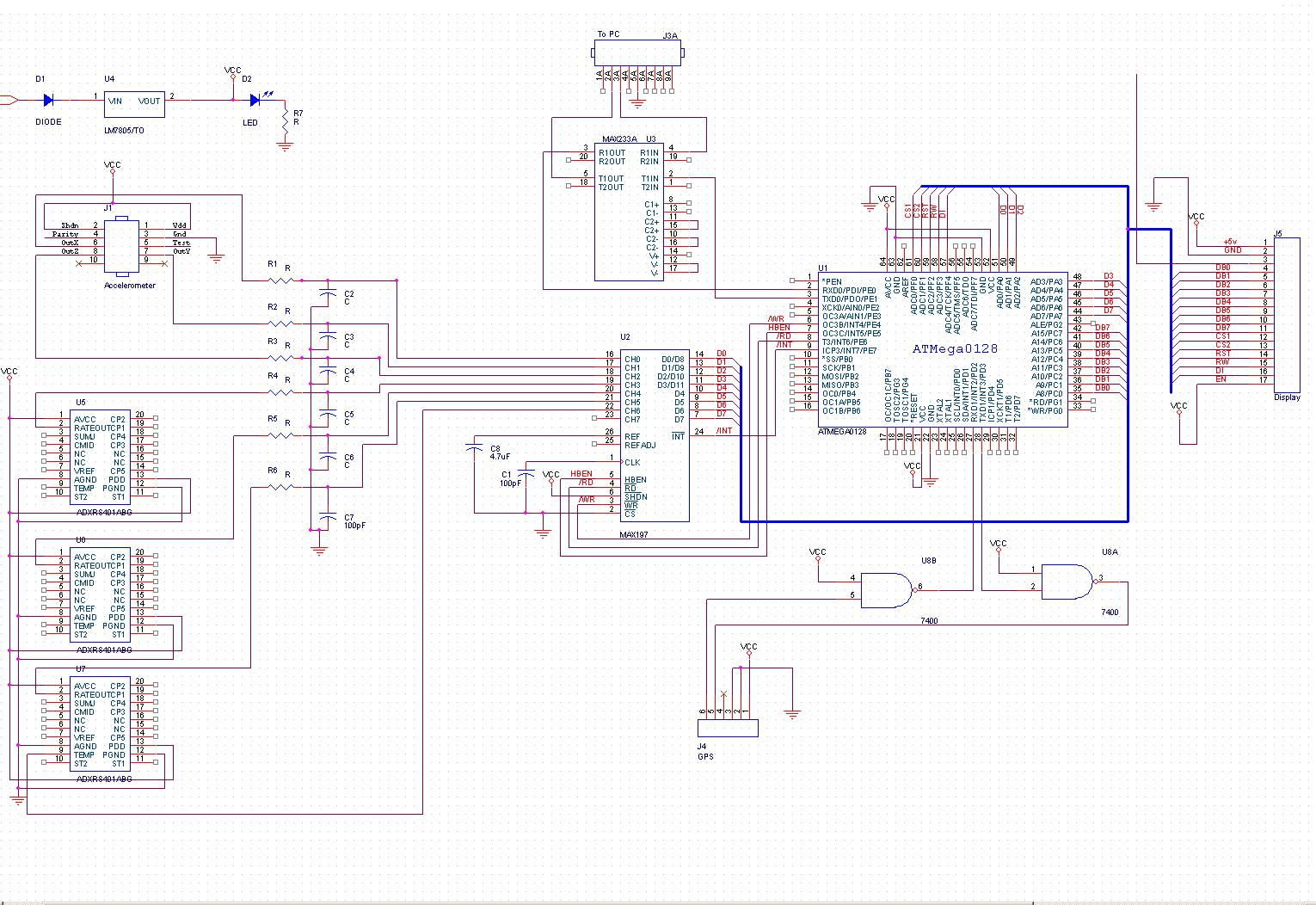 the MEAN gps Orcad Schematics on