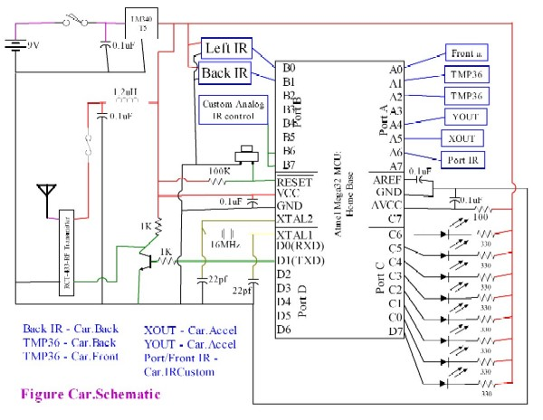 rc diagram car circuit board wiring