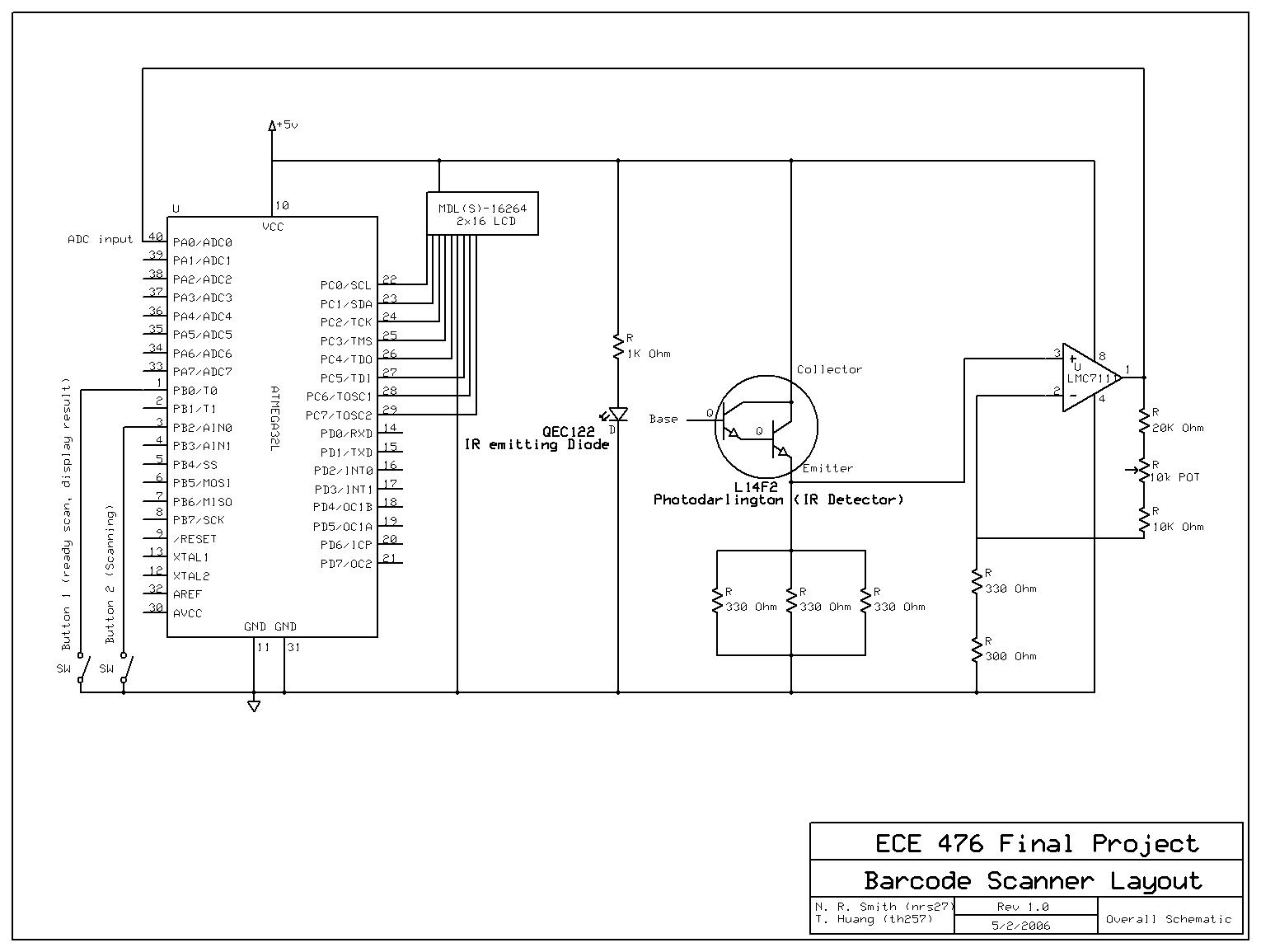 Photo Detector Barcode Scanner Ir Led And Diode Object Detection Circuit Diagram Click On The Picture To See In Full Size This Will Open Up A New Window So Please Disable Any Pop Blocker First If You Cant Seem Access