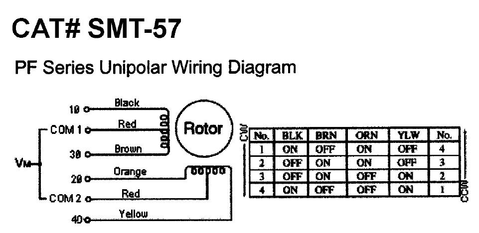wire stepper motor wiring diagram image wiring 6 wire stepper motor wiring color codes 6 image on 6 wire stepper motor