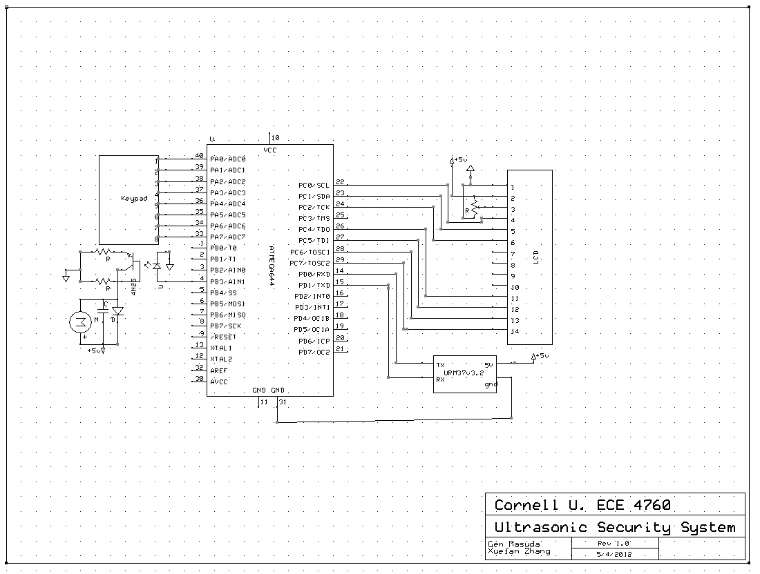 Home Ultrasonic Security System Alarm Wiring Diagram View Schematics