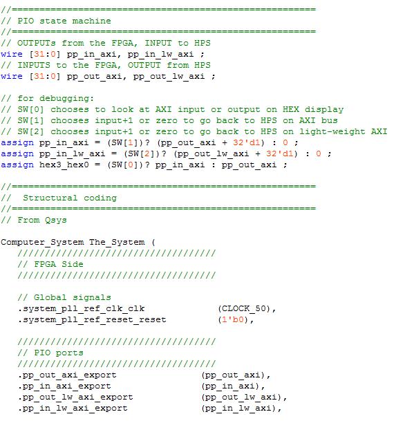 FPGA/HPS communication