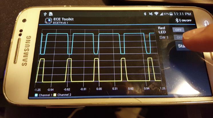 android oscilloscope bluetooth